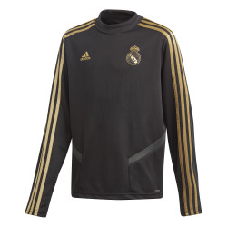 Sweat entraînement junior Real Madrid noir or 2019/20