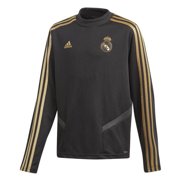 Sweat entraînement junior Real Madrid noir or 2019/20