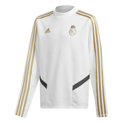 Sweat entraînement junior Real Madrid blanc or 2019/20