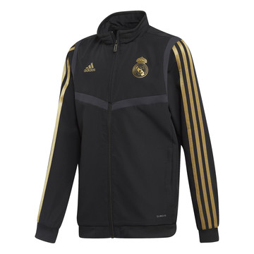 Veste survêtement junior Real Madrid noir or 2019/20