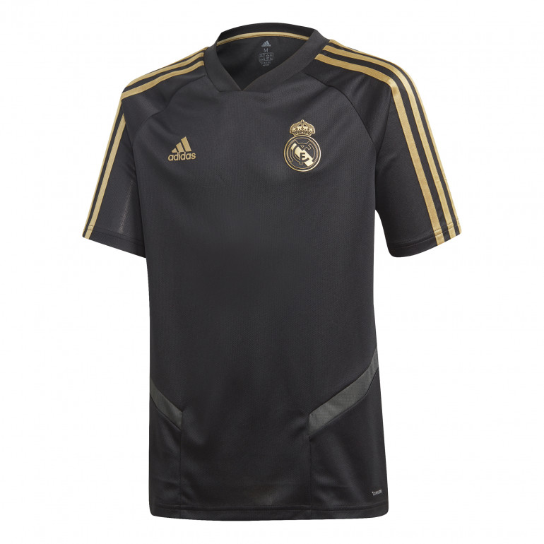 Maillot entraînement junior Real Madrid noir or 2019/20