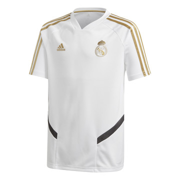 Maillot entraînement junior Real Madrid blanc or 2019/20