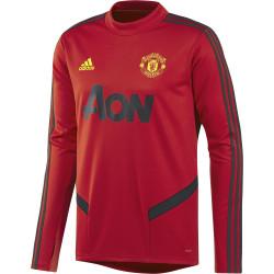 Sweat entraînement Manchester United rouge noir 2019/20