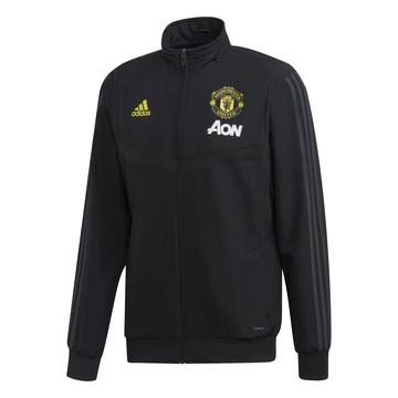 Veste survêtement Manchester United microfibre noir jaune 2019/20