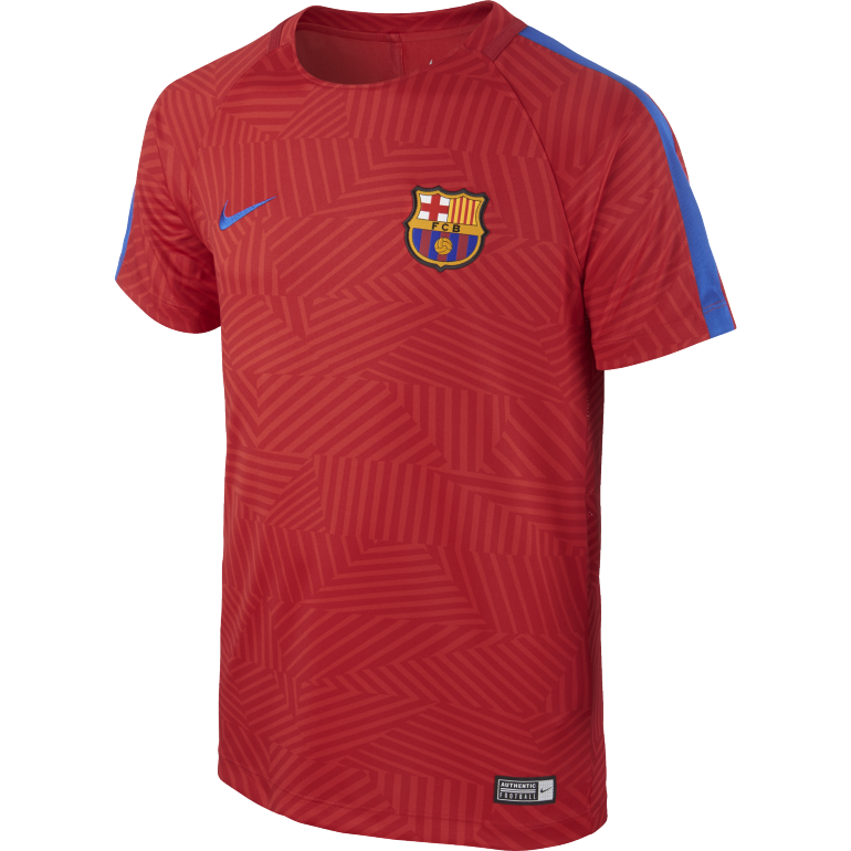 Maillot Avant Match Junior FC Barcelone rouge 2016 - 2017