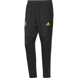 Pantalon survêtement Manchester United warm noir jaune 2019/20