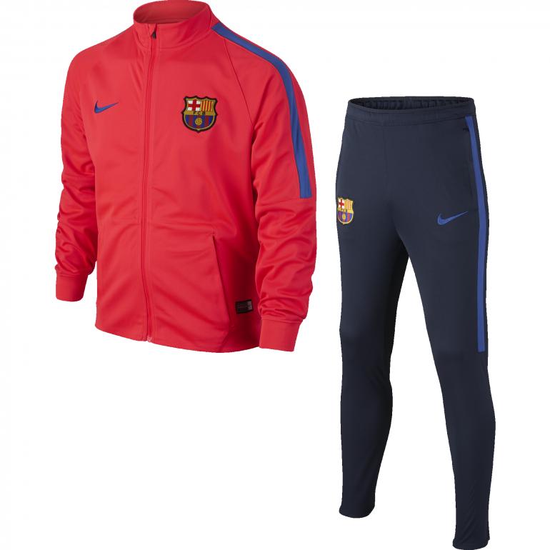 survetement fc barcelone bleu rouge junior clubs etrangers