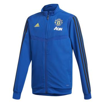 Veste entraînement junior Manchester United bleu jaune 2019/20