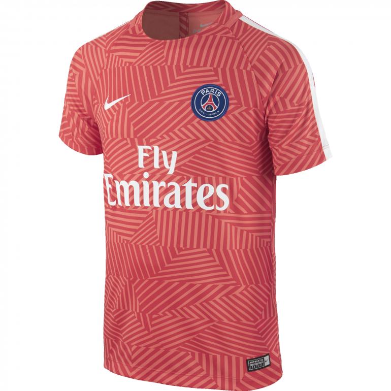 Mailot avant match Junior PSG orange 2016 - 2017