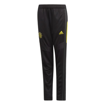 Pantalon survêtement junior Manchester United noir jaune 2019/20