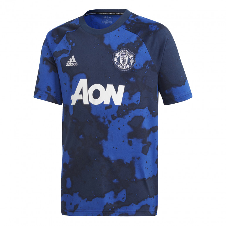 Maillot entraînement junior Manchester United graphic bleu 2019/20