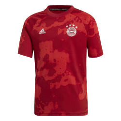 Maillot entraînement junior Bayern Munich graphic rouge 2019/20