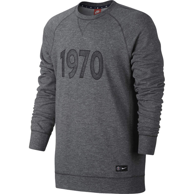 Sweat PSG Authentic Crew 1970 gris