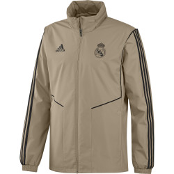 Veste imperméable Real Madrid or noir 2019/20