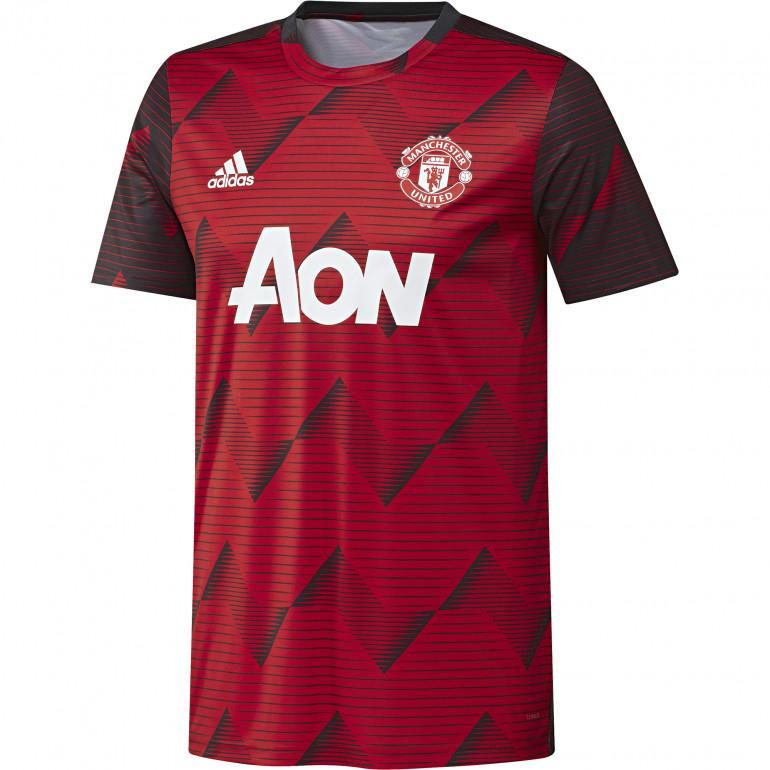 Maillot avant match Manchester United graphic rouge noir 2019/20