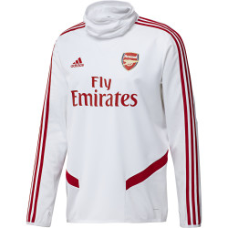 Sweat col montant Arsenal blanc rouge 2019/20