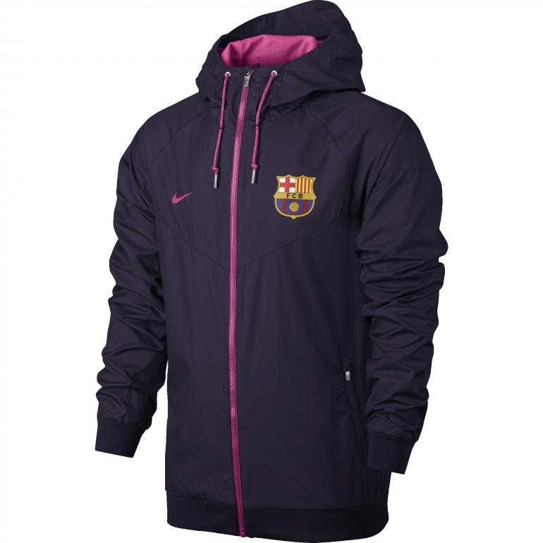 Veste à capuche FC Barcelone violette 2016 - 2017