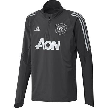 Sweat zippé Manchester United noir gris 2019/20