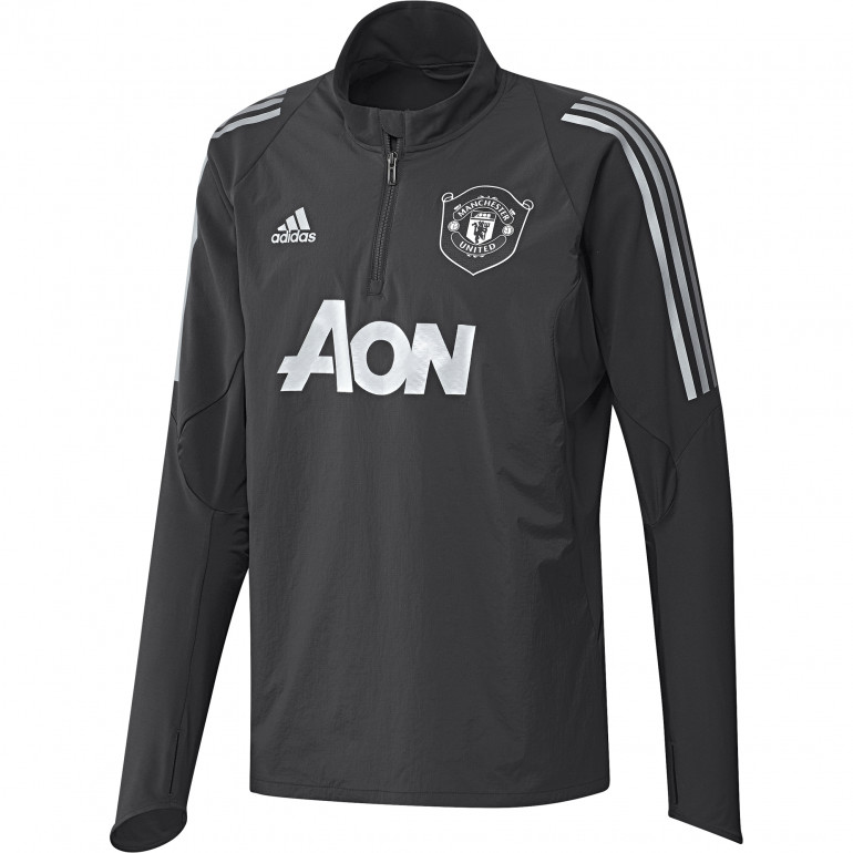 Sweat zippé Manchester United noir gris 2019/20
