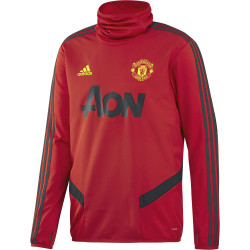 Sweat col montant Manchester United rouge noir 2019/20