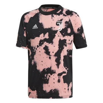 Maillot entraînement junior Juventus graphic noir rose 2019/20