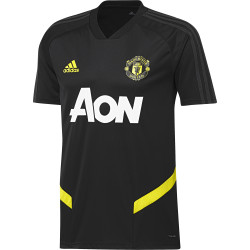 Maillot entraînement Manchester United noir jaune 2019/20