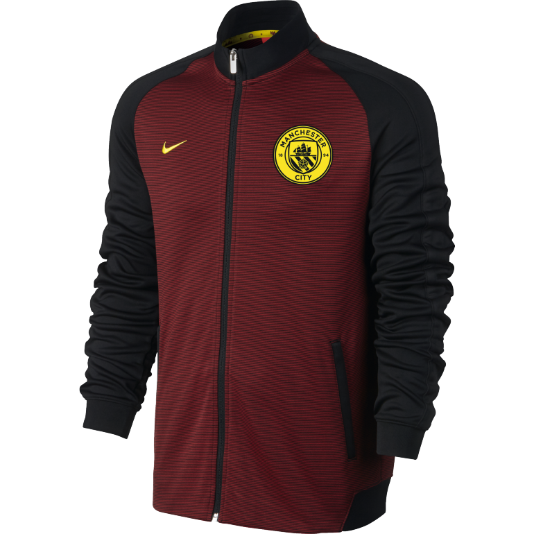 Veste Survêtement Manchester City N98 rouge 2016 - 2017