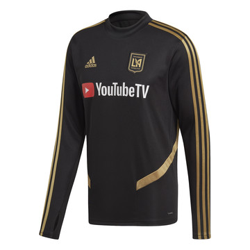 Sweat entraînement Los Angeles FC noir or 2019