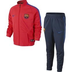 Ensemble Survêtement junior FC Barcelone haut rouge bas bleu 2016 - 2017