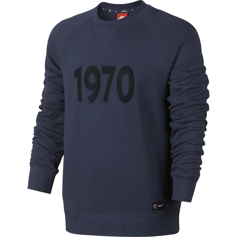 Sweat PSG Authentic Crew 1970 bleu