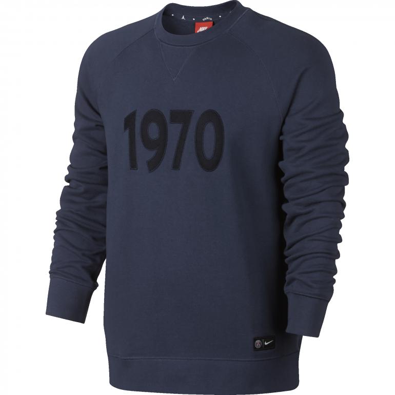 Sweat PSG Authentic Crew 1970 bleu