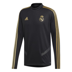 Sweat entraînement Real Madrid noir or 2019/20