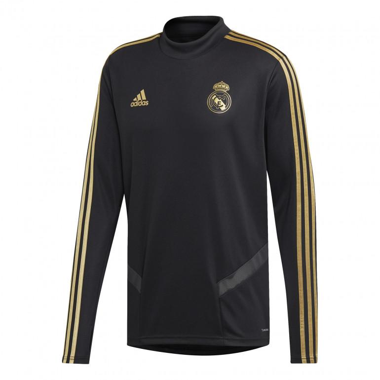 Sweat entraînement Real Madrid noir or 2019/20