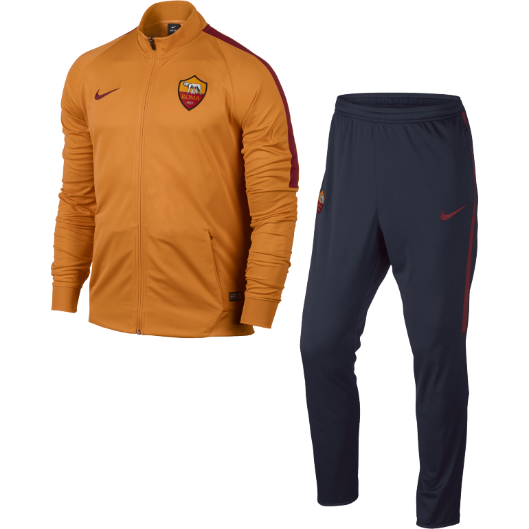 Ensemble Survêtement AS Roma haut orange bas bleu 2016 - 2017