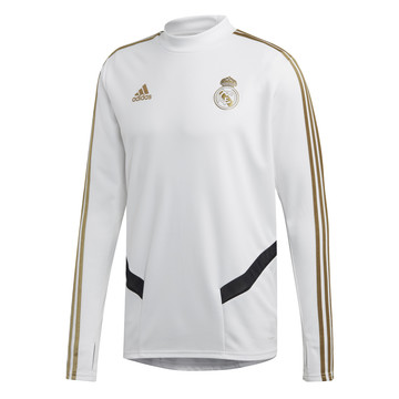 Sweat entraînement Real Madrid blanc or 2019/20
