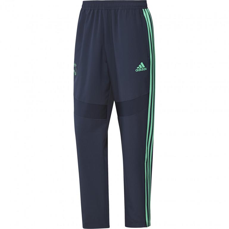 Pantalon survêtement Real Madrid Europe micro fibre bleu vert 2019/20