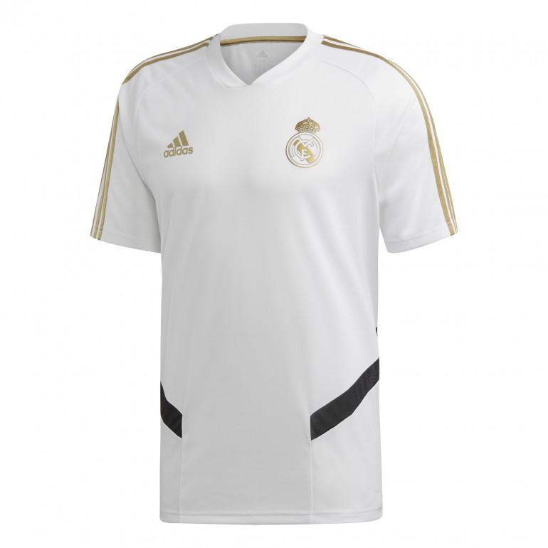 Maillot entraînement Real Madrid blanc or 2019/20
