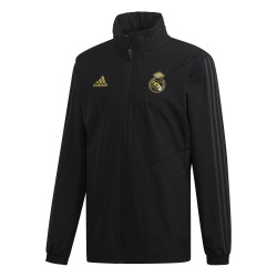 Veste imperméable Real Madrid noir or 2019/20