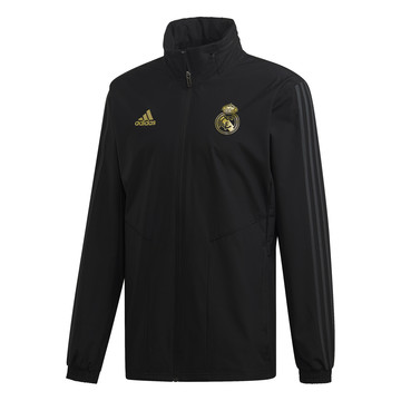 Veste imperméable Real Madrid noir or 2019/20