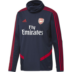 Sweat col montant Arsenal rouge bleu 2019/20