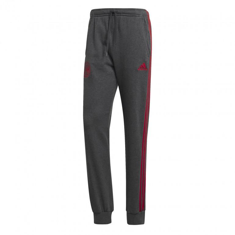 Pantalon survêtement Ajax Amsterdam molleton gris 2019/20