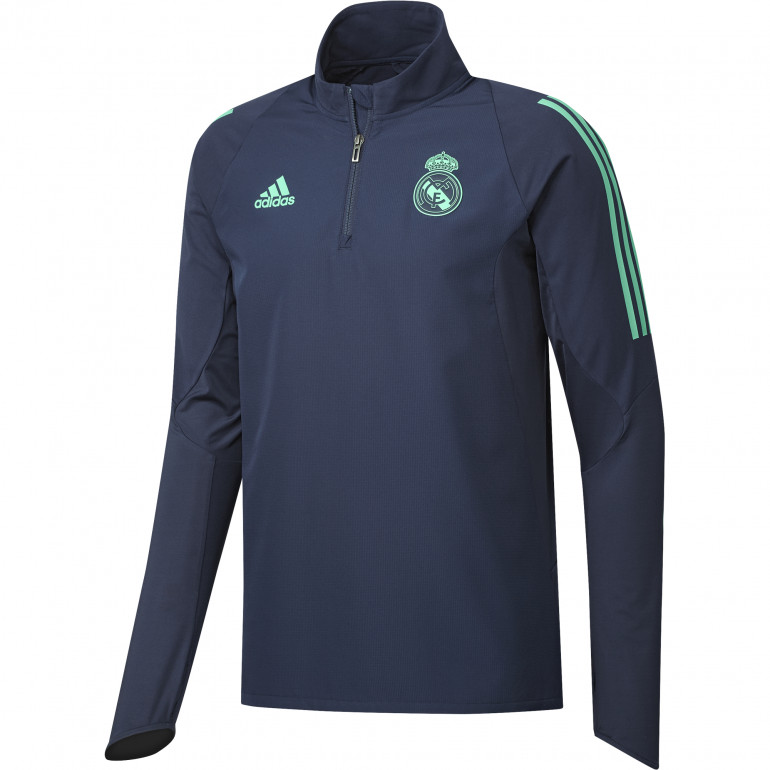 Sweat zippé Real Madrid bleu vert 2019/20
