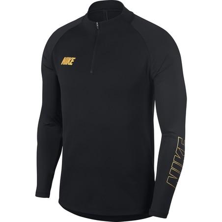 Sweat zippé Nike Squad noir or 2019/20
