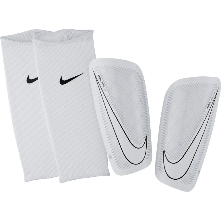 prot ge tibias nike mercurial lite blanc sur. Black Bedroom Furniture Sets. Home Design Ideas
