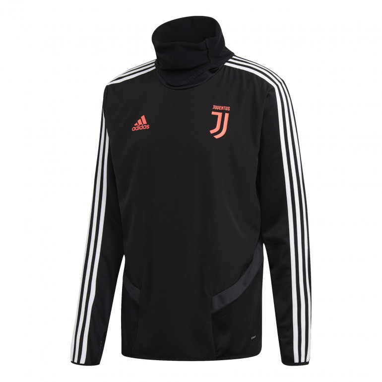 Sweat entraînement Juventus noir rose 2019/20