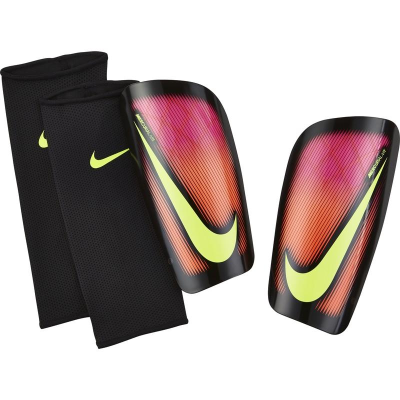 Protège tibias Nike Mercurial Lite rouge sur Foot.fr