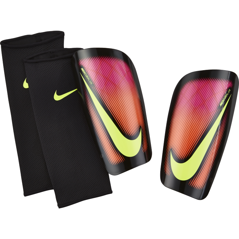 prot ge tibias nike mercurial lite rouge sur. Black Bedroom Furniture Sets. Home Design Ideas