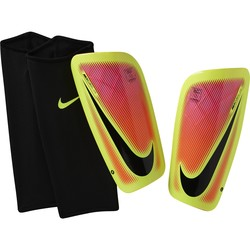 Protège tibias Nike Mercurial Lite rouge et jaune