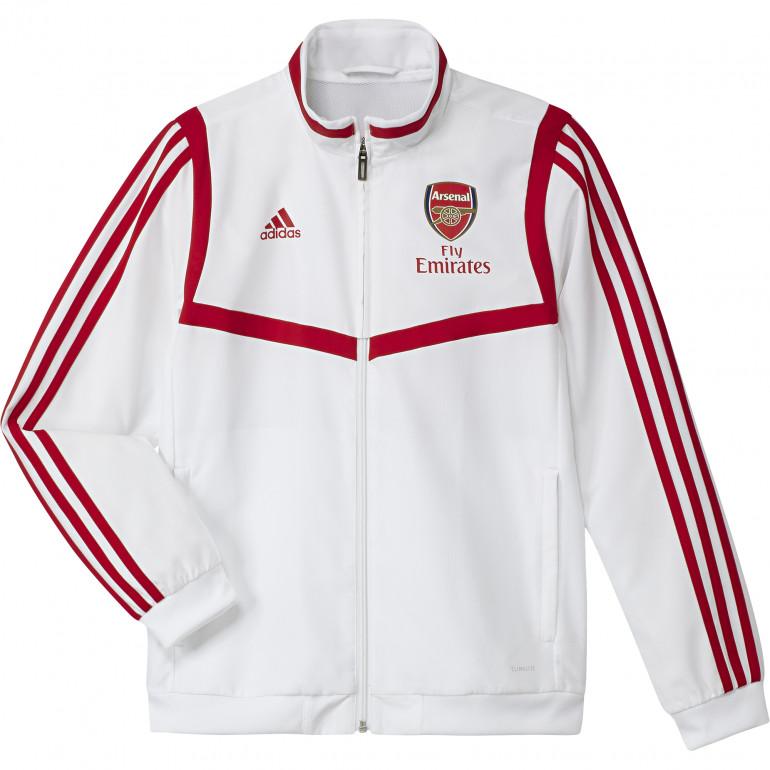 Veste survêtement junior Arsenal blanc rouge 2019/20