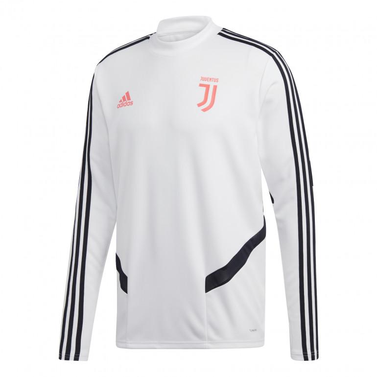 Sweat entraînement Juventus blanc rose 2019/20